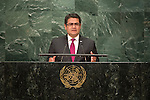 Honduras<br /> H.E. Mr. Juan Orlando Hernández Alvarado<br /> President<br /> <br /> <br /> General Assembly Seventy-first session 10th plenary meeting<br /> General Debate