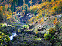 Klickitat River with fall color. Washington