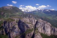Stawamus Chief (Rock Climbing Mountain) in Stawamus Chief Provincial Park, Squamish, BC, British Columbia, Canada - Coast Mountains, Summer