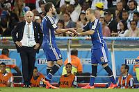 Argentina manager Alejandro Sabella substitutes Gonzalo Higuain off for Rodrigo Palacio