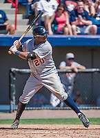 16 March 2014: Detroit Tigers outfielder Rajai Davis at bat during a Spring Training Game against the Washington Nationals at Space Coast Stadium in Viera, Florida. The Tigers edged out the Nationals 2-1 in Grapefruit League play. Mandatory Credit: Ed Wolfstein Photo *** RAW (NEF) Image File Available ***