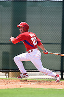 GCL Phillies outfielder Venn Biter (27) at bat during a game against the GCL Pirates on June 26, 2014 at the Carpenter Complex in Clearwater, Florida.  GCL Phillies defeated the GCL Pirates 6-2.  (Mike Janes/Four Seam Images)