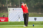 Lok in Liu of Hong Kong tees off at tee one during the 9th Faldo Series Asia Grand Final 2014 golf tournament on March 18, 2015 at Mission Hills Golf Club in Shenzhen, China. Photo by Xaume Olleros / Power Sport Images