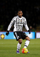 Calcio, Serie A:  Bologna vs Juventus. Bologna, stadio Renato Dall'Ara, 19 febbraio 2016. <br /> Juventus' Patrice Evra in action during the Italian Serie A football match between Bologna and Juventus at Bologna's Renato Dall'Ara stadium, 19 February 2016.<br /> UPDATE IMAGES PRESS/Isabella Bonotto