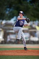 Campbell Holt during the WWBA World Championship at the Roger Dean Complex on October 18, 2018 in Jupiter, Florida.  Campbell Holt is a left handed pitcher from Las Vegas, Nevada who attends Desert Oasis High School and is committed to Southern California.  (Mike Janes/Four Seam Images)