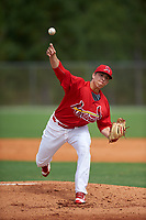 St. Louis Cardinals pitcher Ryan Helsley (18) during a Minor League Spring Training intrasquad game on March 31, 2016 at Roger Dean Sports Complex in Jupiter, Florida.  (Mike Janes/Four Seam Images)