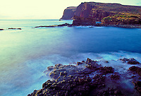 Kaunolu Bay on the southern tip of Lanai, former fishing grounds of an ancient Hawaiian village that was nearby
