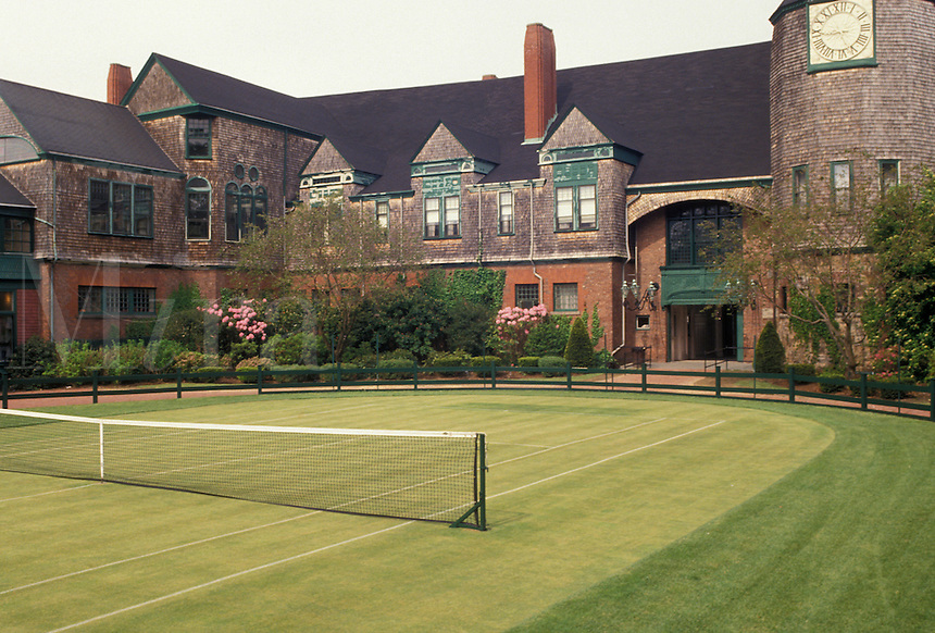 AJ4406, Newport, tennis, Hall of Fame, tennis court, Rhode Island, International Tennis Hall of Fame Museum in Newport in the state of Rhode Island.