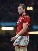 Alun Wyn Jones of Wales during the RBS 6 Nations Championship rugby game between Wales and Scotland at the Principality Stadium, Cardiff, Wales, UK Saturday 13 February 2016