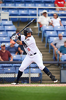 Binghamton Rumble Ponies right fielder L.J. Mazzilli (11) at bat during a game against the Hartford Yard Goats on July 9, 2017 at NYSEG Stadium in Binghamton, New York.  Hartford defeated Binghamton 7-3.  (Mike Janes/Four Seam Images)