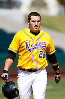 Tom Lilja (26) of the Western Illinois Leathernecks during a game vs. the Missouri State Bears at Hammons Field in Springfield, Missouri;  March 20, 2011.  Photo By David Welker/Four Seam Images