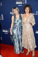 Audrey Azoulay et AÔssa MaÔga ‡ la 42e CÈrÈmonie des CÈsars ‡ l'arrivÈe sur le tapis rouge de la salle Pleyel ‡ Paris le 24 fÈvrier 2017