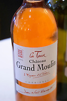 Rose La Tour Grand Moulin. Chateau Grand Moulin. In Lezignan-Corbieres. Les Corbieres. Languedoc. France. Europe. Bottle.