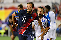 Harrison, NJ - Friday July 07, 2017: Marco Ureña, Alfredo Mejía during a 2017 CONCACAF Gold Cup Group A match between the men's national teams of Honduras (HON) vs Costa Rica (CRC) at Red Bull Arena.