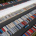 Container Terminal Norfolk Virginia helicopter aerial