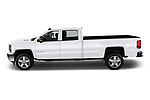 Car driver side profile view of a 2018 Chevrolet Silverado 2500 LT Crew Cab 4 Door Pick Up