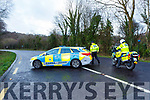 Garda vechicles at the scene of the fatal crash in Brennan's Glen on the Farranfore to Killarney road on Sunday