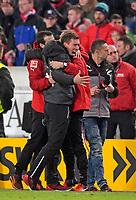 13.01.2018,  Football 1.Liga 2017/2018, 18. match day, VfB Stuttgart - Hertha BSC Berlin, in Mercedes-Benz-Arena Stuttgart. celebration  Trainer Hannes Wolf (Stuttgart). *** Local Caption *** © pixathlon<br /> <br /> +++ NED + SUI out !!! +++<br /> Contact: +49-40-22 63 02 60 , info@pixathlon.de