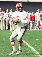 Gerry Dattilio Calgary Stampeders quarterback 1983 Copyright photograph Scott Grant