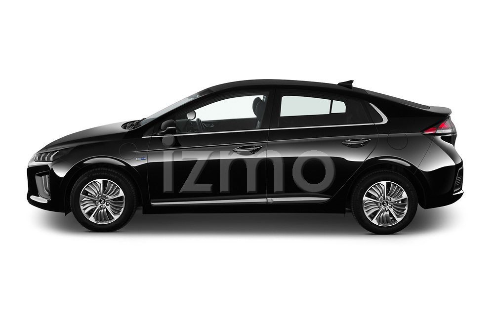 Car Driver side profile view of a 2020 Hyundai Ioniq-Plug-In-Hybrid Shine 5 Door Hatchback Side View