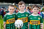 Liam Moynihan (Killarney) with Brian and Jamie Carroll (Laois and Killarney), enjoying the Kerry Team Open Day Meet and Greet, at Fitzgerald Stadium, Killarney on Saturday last.