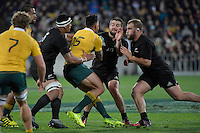 All Blacks' Dane Coles and Owen Franks in action during the All Blacks v Wallabies. The Rugby Championship & Bledisloe Cup at Westpac Stadium, Wellington, New Zealand on Saturday 27 August 2016.<br /> Photo by Masanori Udagawa. <br /> www.photowellington.photoshelter.com.
