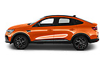 Car Driver side profile view of a 2021 Renault Arkana RS-Line 5 Door SUV Side View