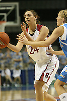 9 March 2008: Stanford Cardinal Ashley Cimino during Stanford's 78-45 win against the UCLA Bruins in the 2008 State Farm Pac-10 Women's Basketball tournament at HP Pavilion in San Jose, CA.