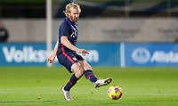 WIENER NEUSTADT, AUSTRIA - NOVEMBER 16: Tim Ream #13 of the United States crosses over a ball during a game between Panama and USMNT at Stadion Wiener Neustadt on November 16, 2020 in Wiener Neustadt, Austria.