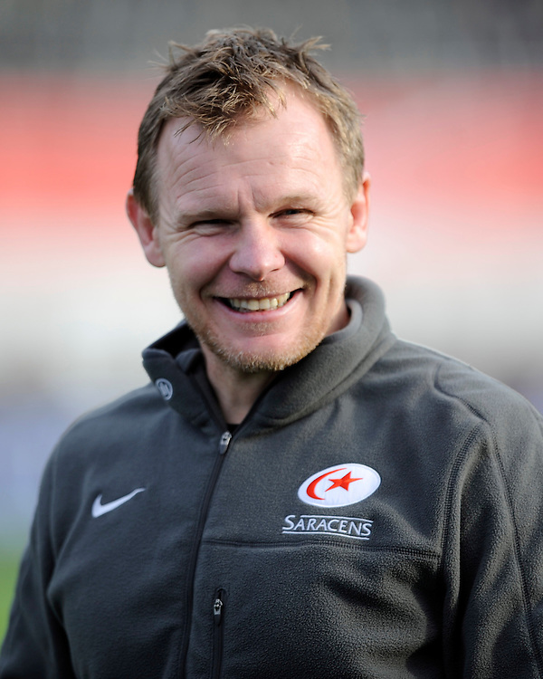 Mark McCall, Saracens Director of Rugby, during the Sanlam Private Investments Shield match between Saracens and the Cell C Sharks at Allianz Park on Saturday 25th January 2014 (Photo by Rob Munro)