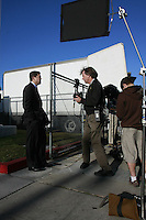 San Diego City Mayoral candidate Steve Francis  records a campaign ad outside Fire Station 15 on Volataire Street in Ocean Beach, Wednesday Januray 23, 2008.
