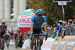Jakob Fuglsang (DEN) Astana Pro Team crosses the finish line at the end of the 99th edition of Milan-Turin 2018, running 200km from Magenta Milan to Superga Basilica Turin, Italy. 10th October 2018.<br /> Picture: Eoin Clarke | Cyclefile<br /> <br /> <br /> All photos usage must carry mandatory copyright credit (© Cyclefile | Eoin Clarke)