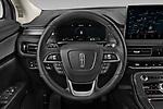 Car pictures of steering wheel view of a 2021 Lincoln Nautilus Standard 5 Door SUV Steering Wheel