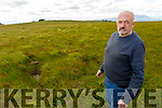 Brian O'Connor from Ballymac who holding a protest at Department of Argriculture in Tralee standing on his land in Lyracrompane.