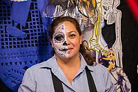 Mexico, Mexico City. Day of the Dead, Dia de los Muertos. Plaza Jamaica market.