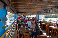 Upper deck of restaurant Wahoo's, Islamorada island, Florida