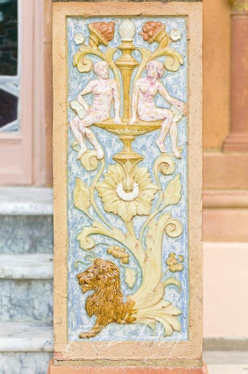 USA, FL, Sarasota, John and Mabel Ringling Museum, Ca d Zan Mansion Detail