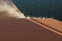 Soja na fronteira do Parque Indígena do Xingu