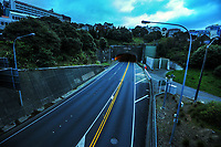 Wellington urban motorway Terrace Tunnel exit at 8am during Level 4 lockdown for the COVID-19 pandemic in Wellington, New Zealand on Monday, 23 August 2021.