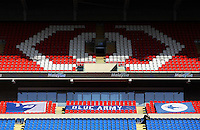 Shadows fall onto the seating as a lone Cardiff City fan sits in the empty stand prior to kick off of the Sky Bet Championship match between Cardiff City and Aston Villa at The Cardiff City Stadium, Cardiff, Wales, UK. Monday 02 January 2017