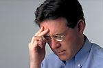 man with headache pain