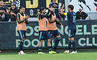 Los Angeles, CA - Sunday April 21, 2019: Los Angeles Football Club defeated the Seattle Sounders FC 4-1 in a Major League Soccer (MLS) game at Banc of California stadium.