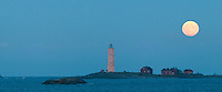 Söderskär Lighthouse Finland at Full Moon -panoramic