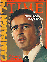 Time Cover, Jerry Brown, 10-21-1974. Photo by John G. Zimmerman.