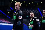 Sebastian Firnhaber (Deutschland #18) ; EHF EURO-Qualifikation / EM-Qualifikation / Handball-Laenderspiel: Deutschland - Estland am 02.05.2021 in Stuttgart (PORSCHE Arena), Baden-Wuerttemberg, Deutschland.<br /> <br /> Foto © PIX-Sportfotos *** Foto ist honorarpflichtig! *** Auf Anfrage in hoeherer Qualitaet/Aufloesung. Belegexemplar erbeten. Veroeffentlichung ausschliesslich fuer journalistisch-publizistische Zwecke. For editorial use only.