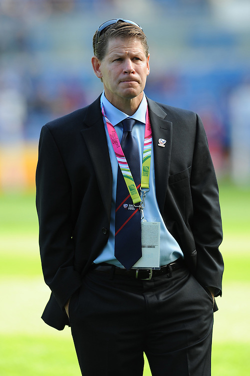 Mike Tolkin, USA Head Coach, before Match 6 of the Rugby World Cup 2015 between Samoa and USA - 20/09/2015 - Brighton Community Stadium, Brighton <br /> Mandatory Credit: Rob Munro/Stewart Communications