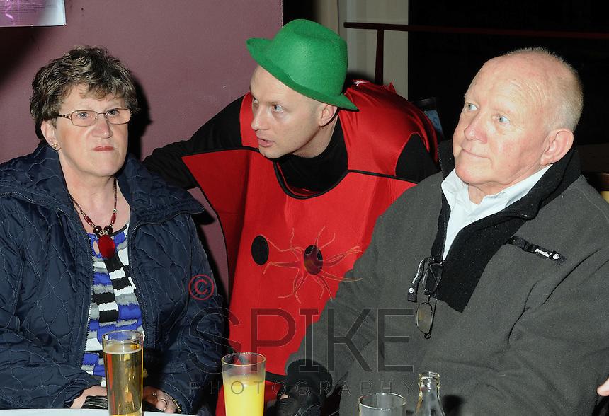 Marie Ford celebrated her 40th birthday with a 70s theme ar Villa Park Birmingham on Sat