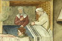 Italien, Umbrien, Fresken im Museum Trinci in Foligno