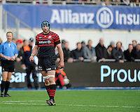 Steve Borthwick of Saracens looks on during the Sanlam Private Investments Shield match between Saracens and the Cell C Sharks at Allianz Park on Saturday 25th January 2014 (Photo by Rob Munro)