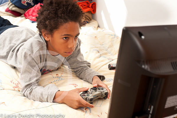 8 year old boy at home
